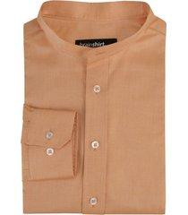 overhemd elverum uit biologisch katoen, abrikoos 45/46