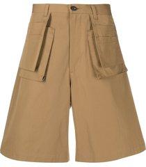frankie morello wide bermuda shorts - neutrals
