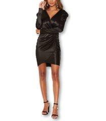 ax paris women's ruched bodycon wrap dress