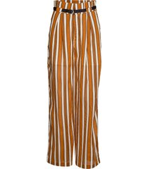 stripy beach pants in viscose mix vida byxor brun scotch & soda