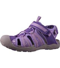 sandalia velcro violeta fagus