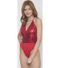 body fashion detalle lentejuela rojo 609 seisceronueve