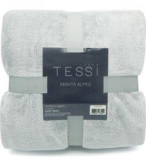 manta cationic blanket queen 2,20m x 2,40m 300g/mâ² - tessi - cinza - cinza - dafiti