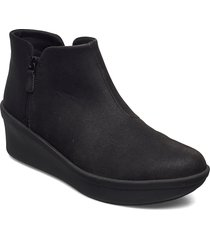 step rose up shoes boots ankle boots ankle boot - flat svart clarks