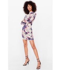 womens give it your mesh shot petite tie dye dress - white