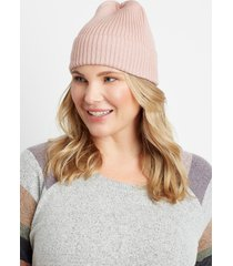 maurices womens pink cuffed beanie