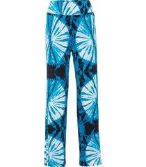 pantaloni a palazzo fantasia batik (blu) - rainbow