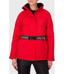 parka calvin klein jeans rojo - calce regular