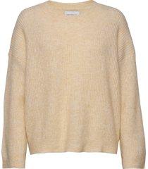 nora knit sweater stickad tröja beige holzweiler