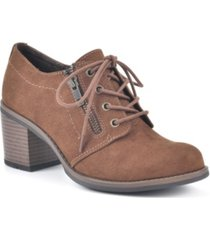 white mountain desaray lace-up booties women's shoes