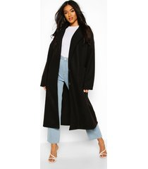 oversized button through wool look coat