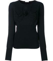 jw anderson chest pocket sweater - black