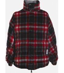 dolce & gabbana reversible velvet jacket with all-over check print