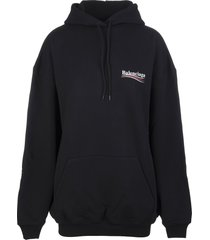 black woman hoodie with political campaign logo
