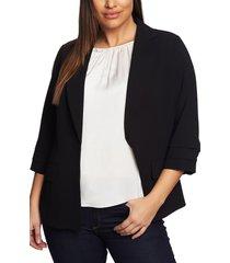 plus size women's cece moss crepe tailored blazer
