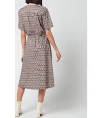 a.p.c. women's elie paisely dress - noisette - fr 38/uk 10
