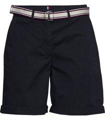 gmd cotton tencel slim bermuda bermudashorts shorts zwart tommy hilfiger