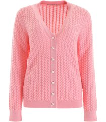 alessandra rich cable-knit cardigan