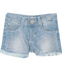 miss blumarine denim shorts with decorations