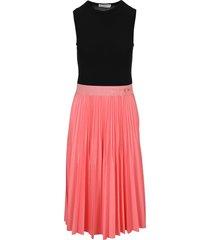 givenchy two tone pleated midi dress