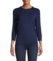 crewneck cotton-blend sweater