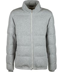 brunello cucinelli standing collar zip padded jacket
