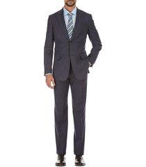 english laundry men's slim-fit striped wool-blend suit - blue - size 40 l