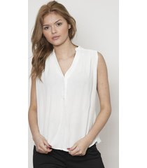 blusa cuello v tela arrugada blanca 609 seisceronueve