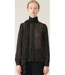 ganni blouse f4360 zwart