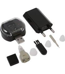 ew jz-1088h2 audífono amplificador de ayuda auditiva recargable sordera invisible