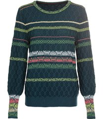 jacquard pullover, groen-motief 38