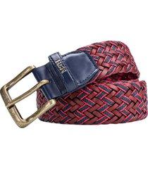 cinturon trenzado perseo rojo orion trecciato