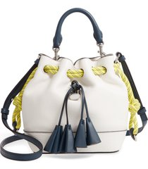the marc jacobs sofia loves the leather bucket bag - white