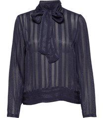 luciaiw blouse blouse lange mouwen blauw inwear