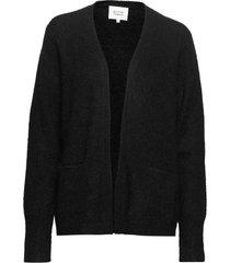 brook knit new short cardigan gebreide trui cardigan zwart second female