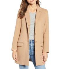 women's bb dakota whiskey business coat, size x-small - beige