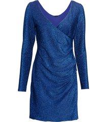 abito a portafoglio in lurex (blu) - bodyflirt