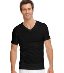 jockey men's classic collection v-neck tagless undershirt 3-pack with staynew technology