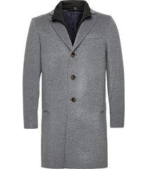 cashmere coat - sultan tech yllerock rock grå sand