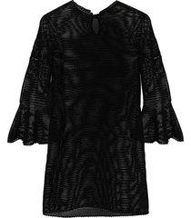 patou open-knit cotton dress - black