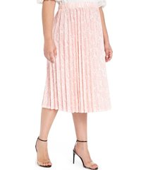 plus size women's eloquii snake print pleated matte jersey skirt