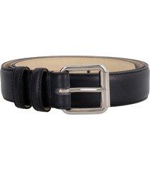 a.p.c. paris leather belt with buckle