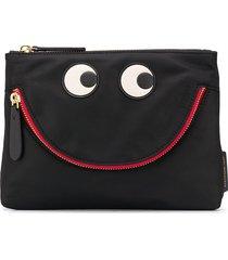 anya hindmarch eyes zipped pouch - black