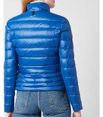 mackage women's reema coat - blue - l