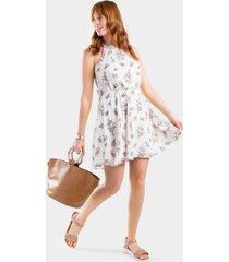 braxton floral flawless dress - ivory