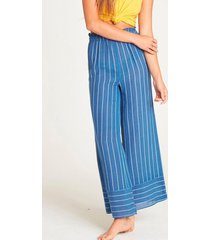 pantalon mujer flip out celeste billabong