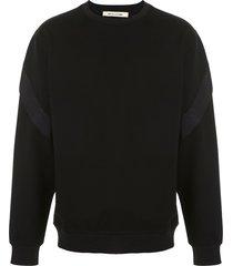 1017 alyx 9sm shell-trimmed jersey sweatshirt - black