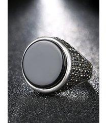 anillo de diamantes de aleación vintage para hombre