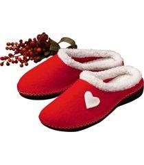 ciabatte cuore rosso (rosso) - euronova