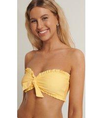 anika teller x na-kd bikinitopp med volang - yellow